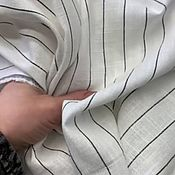 Материалы для творчества handmade. Livemaster - original item Fabric: Linen strip white. Handmade.