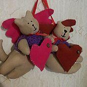 Куклы и игрушки ручной работы. Ярмарка Мастеров - ручная работа Летящие коты-парочка. Handmade.