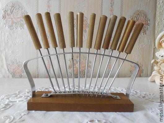 Винтажная посуда. Ярмарка Мастеров - ручная работа. Купить Набор 12 вилочек для канапе, сыра, оливок, лимона, винтаж. Handmade.