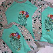 Одежда ручной работы. Ярмарка Мастеров - ручная работа свитшоты для мамы и дочек. Handmade.