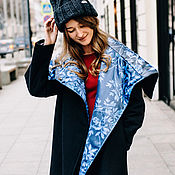 Одежда ручной работы. Ярмарка Мастеров - ручная работа Пальто зимнее из шерсти. Handmade.