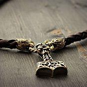 handmade. Livemaster - original item Thor`s Hammer pendant on leather cord. Handmade.