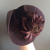Аксессуары handmade. Livemaster - original item Hat with drapery. Handmade.