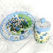 Для дома и интерьера handmade. Livemaster - original item A set of dishes Cornflower. Handmade.