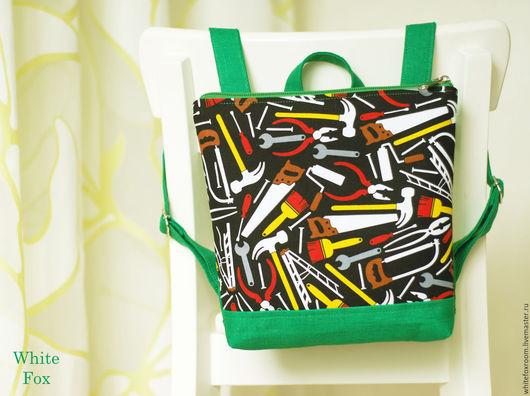Рюкзаки ручной работы. Ярмарка Мастеров - ручная работа. Купить Детский льняной рюкзачок. Handmade. Рюкзак, натуральные материалы, льняной