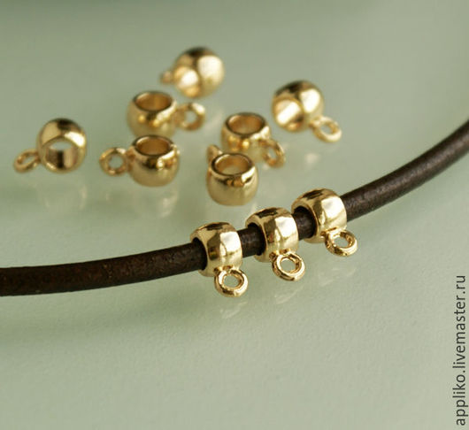 Для украшений ручной работы. Ярмарка Мастеров - ручная работа. Купить Бейл для шнура d.3 мм (родированный). Handmade.