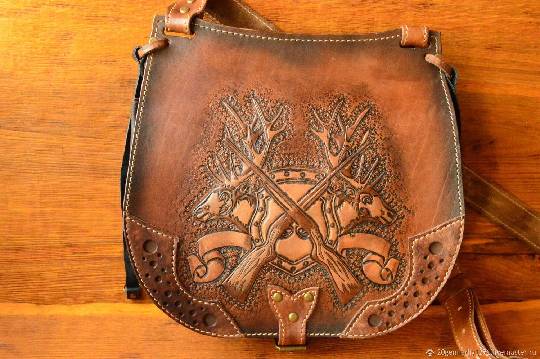 Bag hunter, yet feels, genuine leather, Classic Bag, Ryazan,  Фото №1
