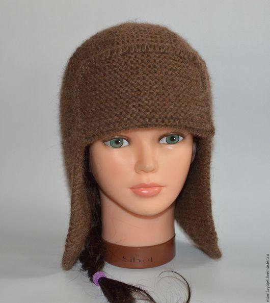 Шапки ручной работы. Ярмарка Мастеров - ручная работа. Купить вязаная шапка ушанка унисекс, шапка с козырьком, шапка Буденовка. Handmade.