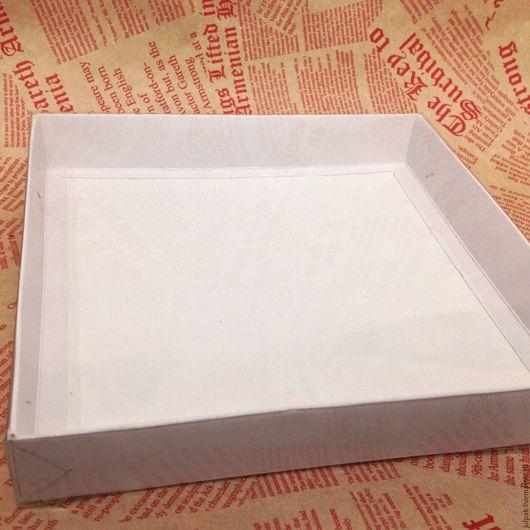 Упаковка ручной работы. Ярмарка Мастеров - ручная работа. Купить Коробка 20-20-3 с прозрачной крышкой. Handmade. Белый
