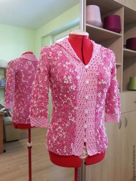 Кофты и свитера ручной работы. Ярмарка Мастеров - ручная работа. Купить Кофточка вязаная. Handmade. Розовый, ручная вязка, knitting