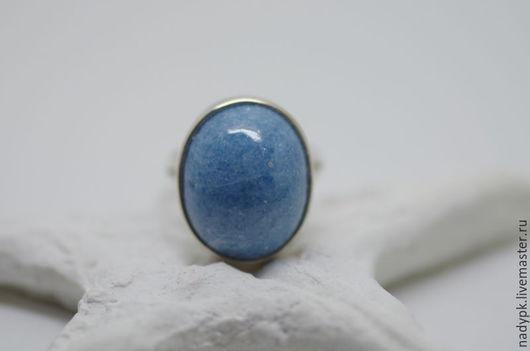 """Кольца ручной работы. Ярмарка Мастеров - ручная работа. Купить Кольцо с виоланом """"Голубой песок"""", серебро. Handmade. Голубой, кольцо"""