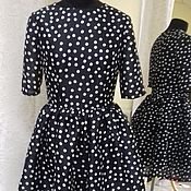 Одежда handmade. Livemaster - original item polka dot dress. Handmade.