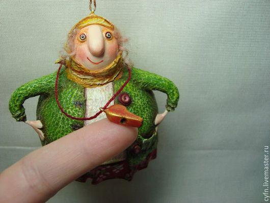 Сказочные персонажи ручной работы. Ярмарка Мастеров - ручная работа. Купить Баба  Маня.. Handmade. Зеленый, охрана, авторская игрушка