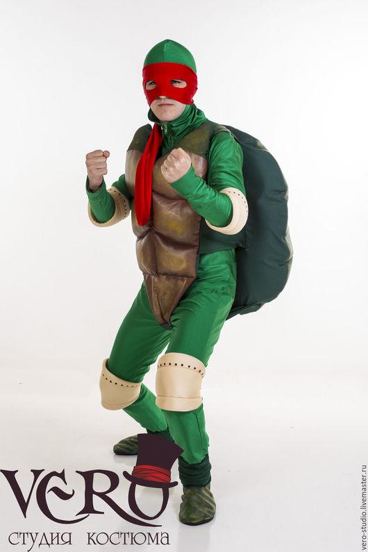 Карнавальные костюмы ручной работы. Ярмарка Мастеров - ручная работа. Купить Костюм черепашки ниндзя с кожаным панцирем. Handmade. Зеленый