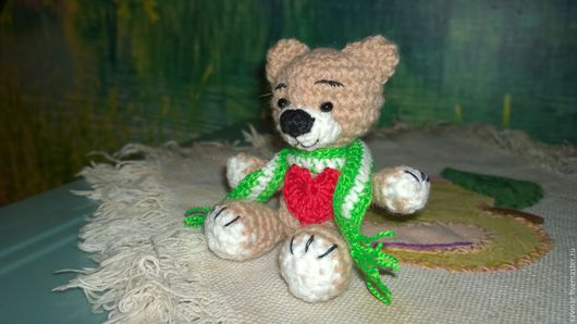 Мишки Тедди ручной работы. Ярмарка Мастеров - ручная работа. Купить Вязаный крючком мишка.. Handmade. Бежевый, мишка тедди