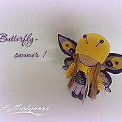 Куклы и игрушки handmade. Livemaster - original item Doll, Textile, Interior Copyright.Bright BUTTERFLY.. Handmade.