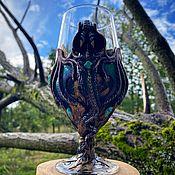 Посуда handmade. Livemaster - original item Dragon 450 ml beer glass with Amazonite. Handmade.