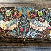 Mini Dressers handmade. Livemaster - original item chest of drawers Birds of William Morris. Handmade.