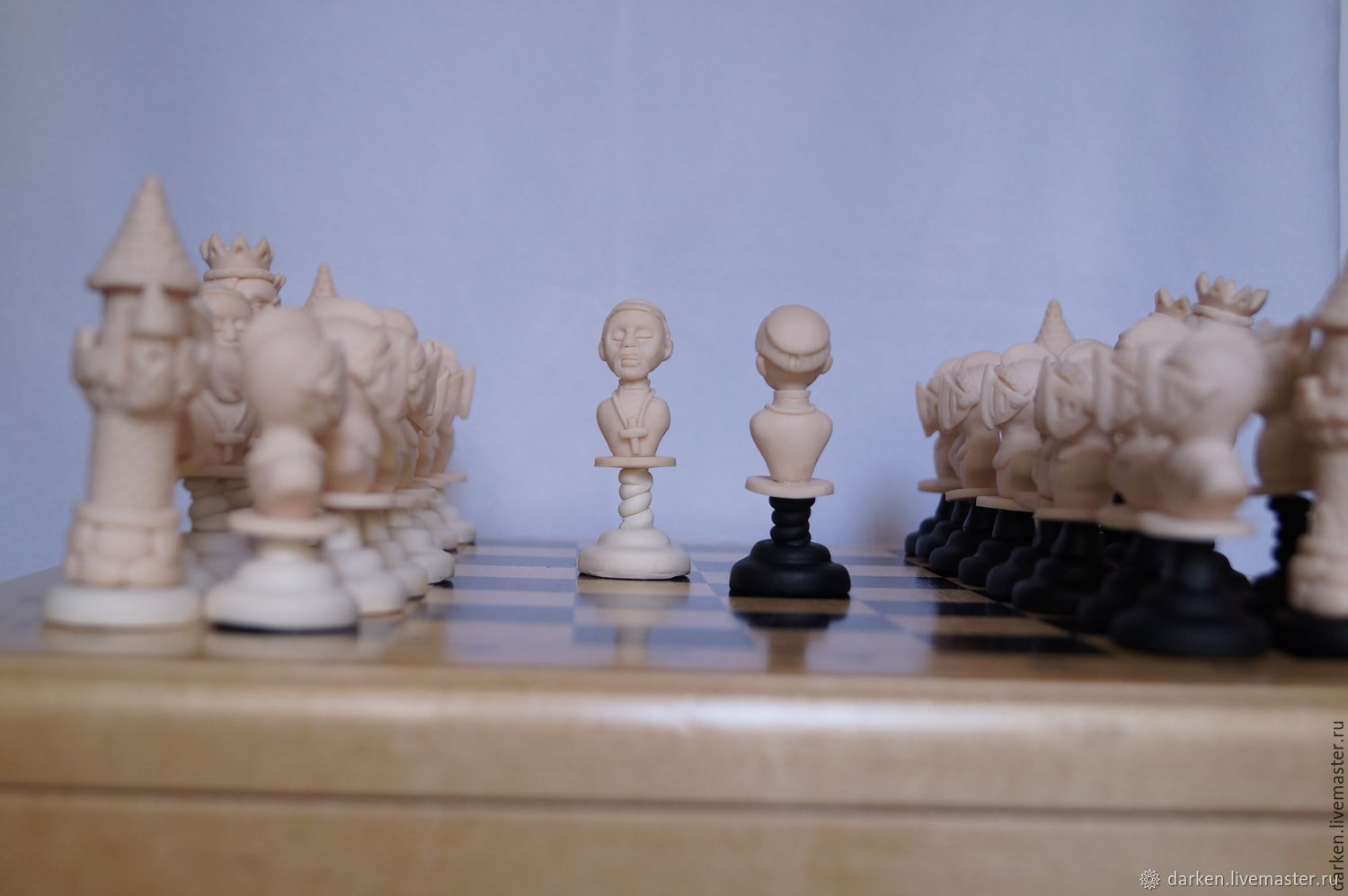 Chess  imitation ivory Handmade single copy polymer clay – shop online on  Livemaster with shipping - 9SWMHCOM | Saransk