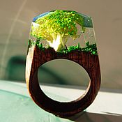 Украшения handmade. Livemaster - original item Wooden ring