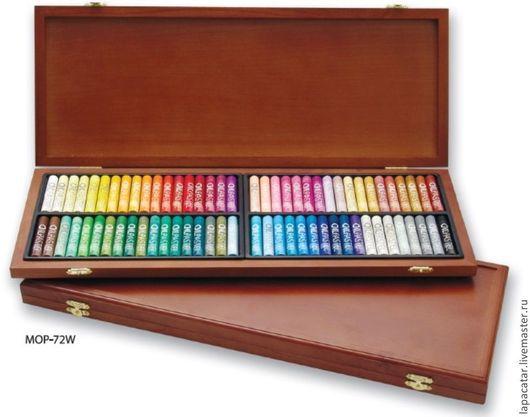 Другие виды рукоделия ручной работы. Ярмарка Мастеров - ручная работа. Купить Пастель MUNGYO масляная профессиональная 72 цвета в деревянной коробке. Handmade.