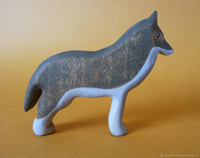 Деревянная игрушка  Волк-вожак, Вальдорфские куклы и звери, Новосибирск,  Фото №1