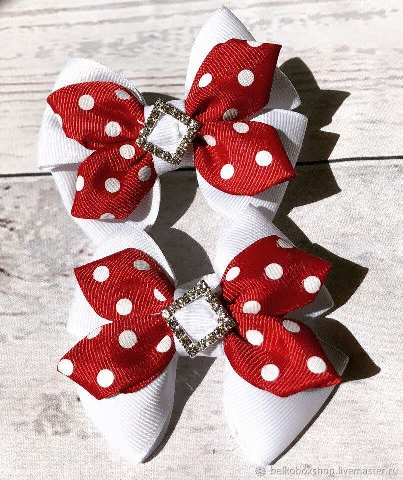 The bow of REP ribbons 'Polina', Hairpins, Moscow,  Фото №1