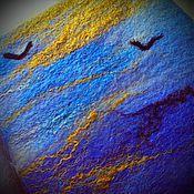 Канцелярские товары ручной работы. Ярмарка Мастеров - ручная работа Блокнот Байкал. Handmade.