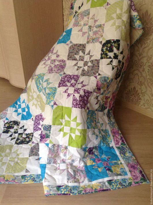 Текстиль, ковры ручной работы. Ярмарка Мастеров - ручная работа. Купить Одеяло/покрывало на диван или кровать ПРОДАНО. Handmade. Комбинированный