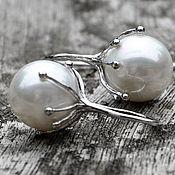 Earrings handmade. Livemaster - original item Silver earrings Magic flower. Handmade.