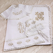 Работы для детей, ручной работы. Ярмарка Мастеров - ручная работа София: крестильное платье, чепчик и комплект. Handmade.