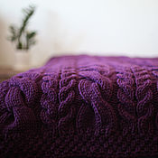 Для дома и интерьера handmade. Livemaster - original item Knitted blanket ZigZag. Grey black white.. Handmade.