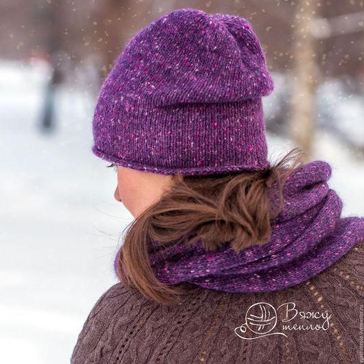 шарф, снуд, вязаный шарф, вязаный снуд, снуд на 2 оборота, снуд на два оборота, купить снуд, вязаный комплект, шапочка и шарф, шарф и шапочка, купить шарф и шапочку, анна шункина, вяжу тепло, твид,