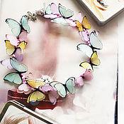 """Украшения ручной работы. Ярмарка Мастеров - ручная работа Колье""""Spring butterfly"""". Handmade."""