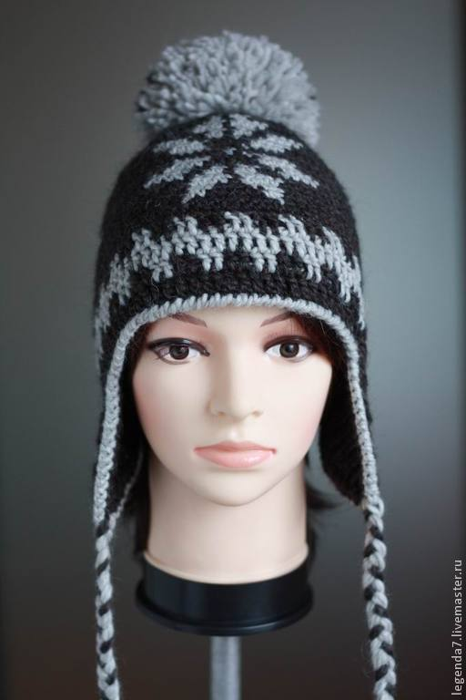 шапки с ушками вязаные фото