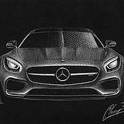Картины и панно ручной работы. Ярмарка Мастеров - ручная работа Mercedes-Benz AMG GT. Handmade.