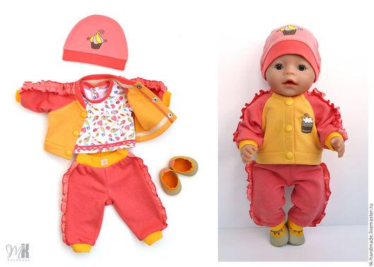 """Одежда для кукол ручной работы. Ярмарка Мастеров - ручная работа. Купить Комплект """"Сладость 1"""" для куклы Беби Бон (Baby Born). Handmade."""
