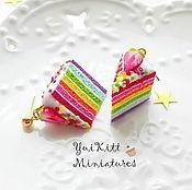"""Украшения ручной работы. Ярмарка Мастеров - ручная работа Серьги """"Rainbow Cake"""" - 2. Handmade."""