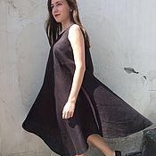 "Одежда handmade. Livemaster - original item Black linen dress ""Fuji"". Handmade."