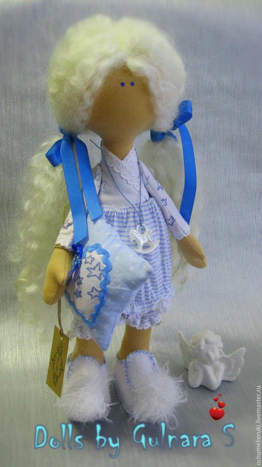 Куклы Тильды ручной работы. Ярмарка Мастеров - ручная работа. Купить Тильда. Текстильная Интерьерная кукла. Handmade. Голубой, иентерьер
