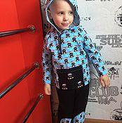 Комплекты одежды ручной работы. Ярмарка Мастеров - ручная работа Весенний костюм из легкой ткани на мальчик Небесные пингвинята. Handmade.