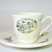 Винтаж handmade. Livemaster - original item Sarreguemines coffee pair. Handmade.
