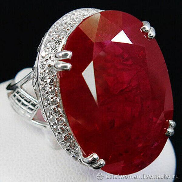Серебряное кольцо с рубином, Кольца, Краснодар,  Фото №1