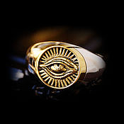 Украшения handmade. Livemaster - original item All-Seeing Eye Ring of silver 925 and brass jewelry dimensionless. Handmade.