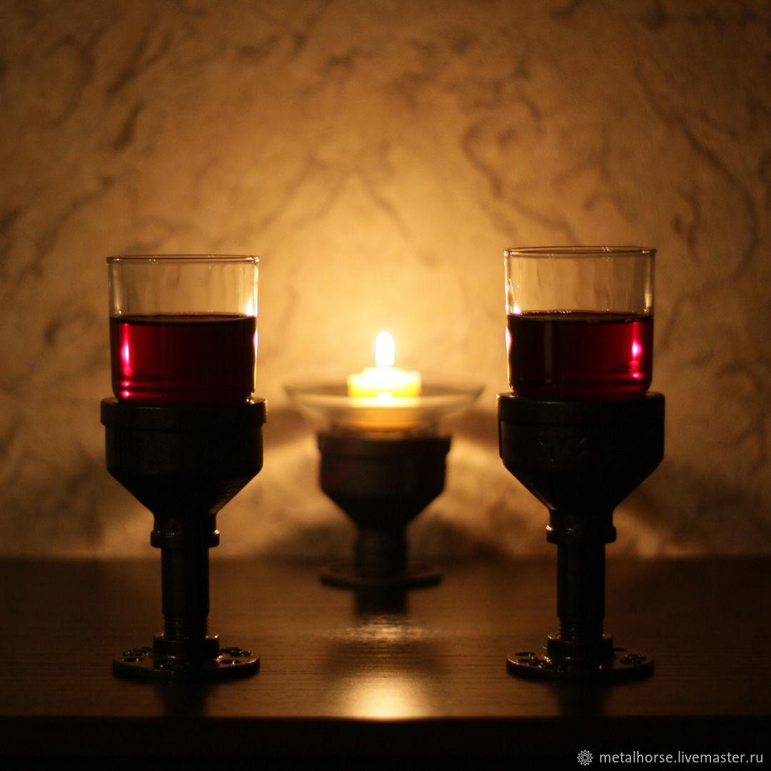Бокалы, стаканы, фужеры в стиле лофт, индастриал, стимпанк, ретро, Бокалы, Москва,  Фото №1