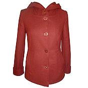 Одежда handmade. Livemaster - original item Cashmere coat, a short, hooded.. Handmade.