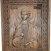 Иконы ручной работы. Ярмарка Мастеров - ручная работа Резная икона Святой Ангел Хранитель. Handmade.