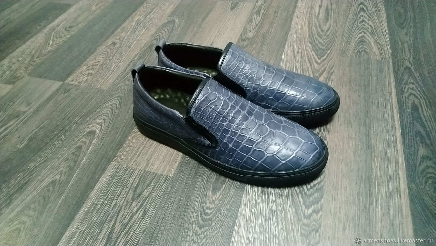 Slip-ons made of genuine crocodile leather, on request!, Slip-ons, Tosno,  Фото №1