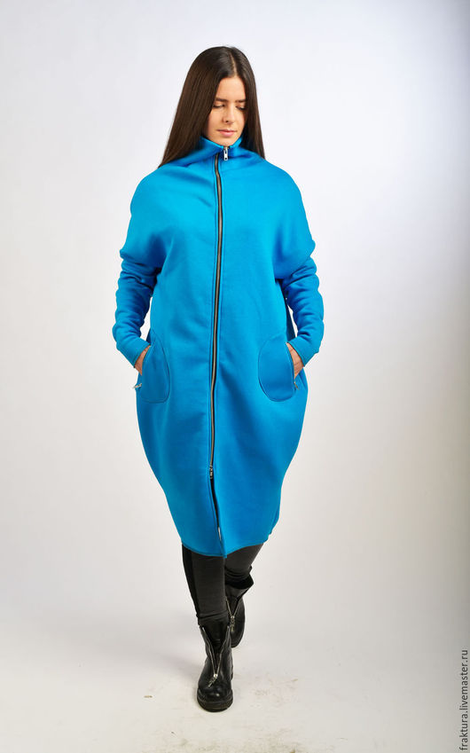 """Верхняя одежда ручной работы. Ярмарка Мастеров - ручная работа. Купить Пальто """"Must Have Blue"""" C0012. Handmade."""