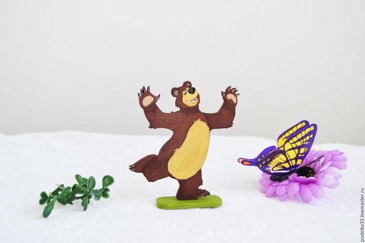Сказочные персонажи ручной работы. Ярмарка Мастеров - ручная работа. Купить Игрушка Мишка  из серии Маша и медведь для детского развития. Handmade.